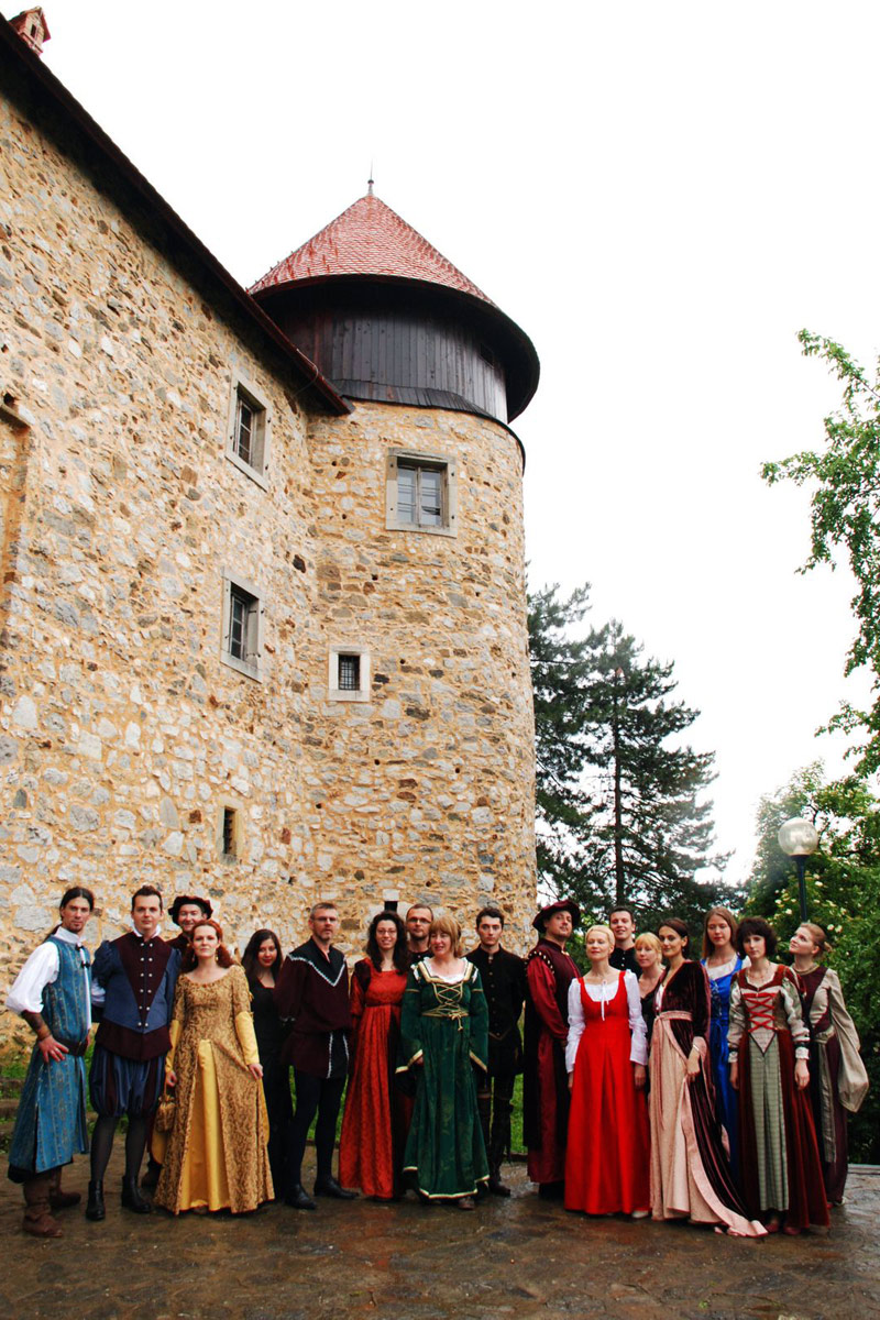 Laudate Renaissance Ensemble after concert in Dubovac castle